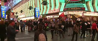 Protesters take over Fremont Street in Las Vegas