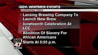 Governor Whitmer to make several stops around Lansing Thursday