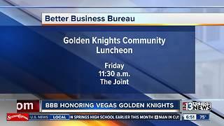 Better Business Bureau hosts Golden Knights Community luncheon