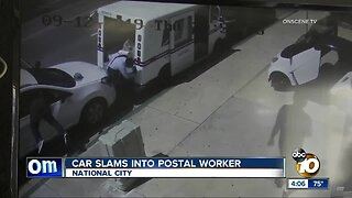 Car slams into postal worker in National City