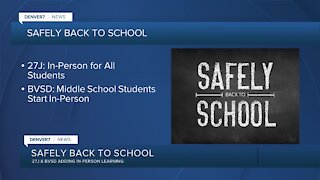 2 school districts adding in-person learning today