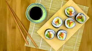 Sushi Rolls with Avocado & Quick-Pickled Veggies
