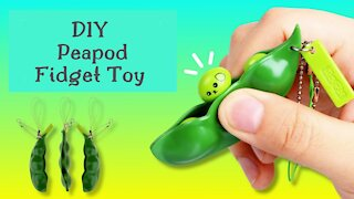 How to make easy paper peapod fidget toy at home