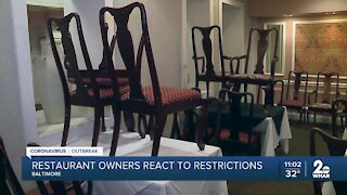 Baltimore city restaurant owners say they lament mayor's restrictions on outdoor and indoor dining