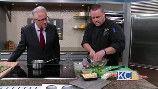 RECIPE: Chili crab toast with apple celery salad