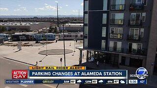 Alameda Station parking changes