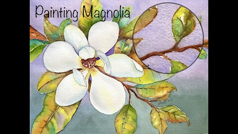 Watercolor Painting - Painting Magnolia Flower