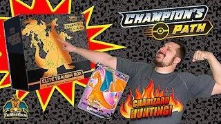 Champion's Path Elite Trainer Box #3 | Charizard Hunting | Pokemon Cards Opening
