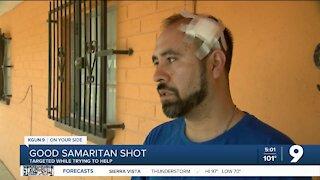 Fire & shootings-Wounded neighbor describes escape