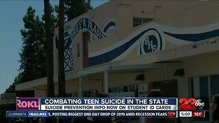 Suicide prevention info on student ID cards