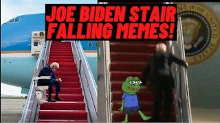 Joe Biden Falls 3 Times Boarding Air Force One! (FUNNY MEMES)
