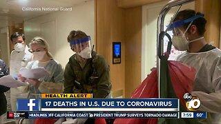 17 deaths in U.S. due to coronavirus