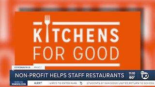 Non-profit helps staff restaurants