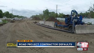 Road project contractor defaults
