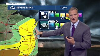 Scatter storms through Thursday evening