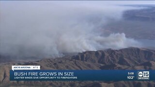 Bush fire grows to more than 114,000 acres