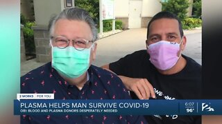 Plasma helps Jenks man survive COVID-19