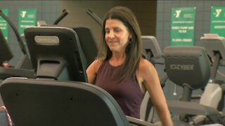 Woman grateful to be alive after suffering a stroke during exercise class