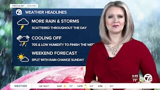 Metro Detroit Forecast: Storms still possible