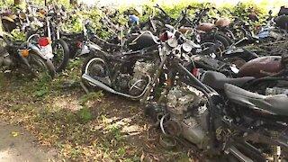 Giant motorcycle graveyard