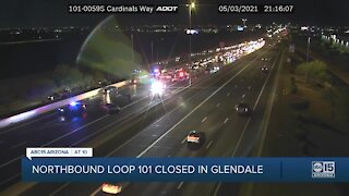 Northbound Loop 101 closed after crash in