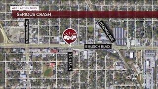 Westbound traffic on Busch Blvd closed after crash