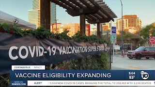 San Diego County to expand COVID-19 vaccine eligibility