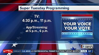 PROGRAMMING NOTE: Super Tuesday programming schedule