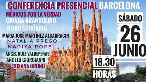 Barcelona Conferencia internacional gratis presencial 26 de junio Médicos por la Verdad del Mundo