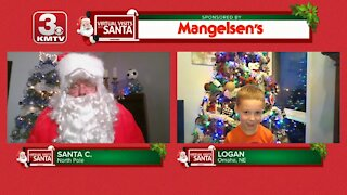 Virtual Santa visit with Logan