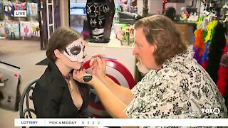 Halloween makeup service at Red Headed Witches