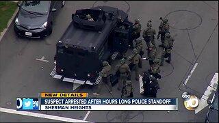 Suspect arrested after hours long police standoff