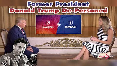Breaking News | Former President Trump De-Personed on Facebook and Instagram