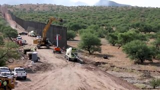 WATCH: Time-lapse video shows border wall going up near Sasabe