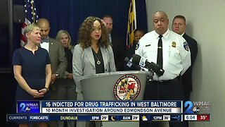 16 indicted for drug trafficking after 10-month investigation