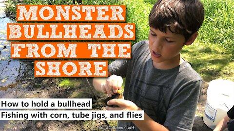 S3:E2 Monster Bullheads From the Shore | Kids Outdoors