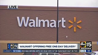 Walmart offering one-day delivery