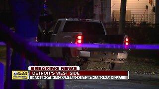 Man shot in pickup truck at 29th and Magnolia