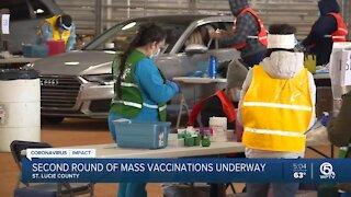 Treasure Coast residents begin getting second dose of COVID-19 vaccine