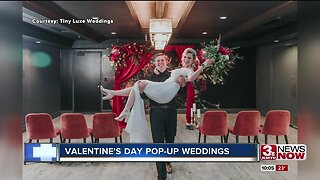 Local wedding business throws pop-up weddings on Valentine's Day for couples on a budget