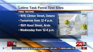 Latino COVID-19 Task Force offering more testing sites.