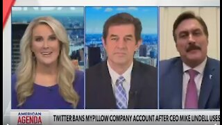 NEWSMAX HOST TALKS TO MIKE LINDELL ABOUT CENSORSHIP AND THEN WALKS OUT ON INTERVIEW