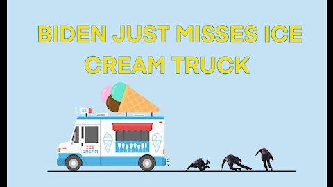 Biden JUST misses ice cream truck