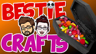 Bestie Crafts - How to make a fun Halloween Coffin Candy Box