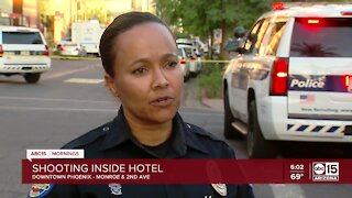 1 killed, 7 injured in downtown Phx hotel shooting