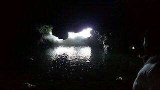 Barbados cave ocean entrance