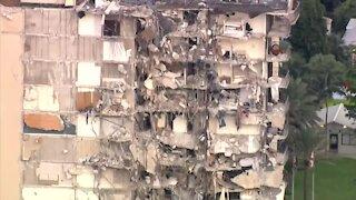 Partial building collapse near Miami Beach