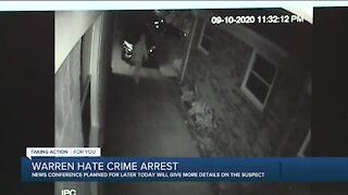 Warren police to hold press conference on arrest in racist vandalism case