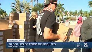 90,000 pounds of food distributed at Wednesday event in West Palm Beach