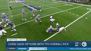 Lions have options with 7th overall pick